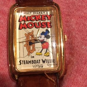 Vintage Mickey Mouse watch, Steamboat Willie